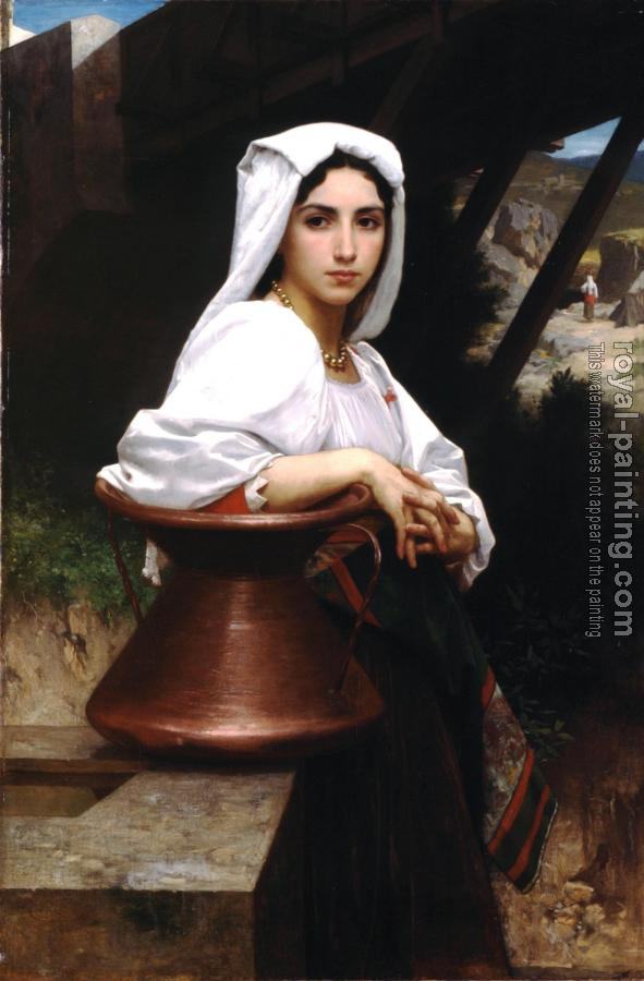 William-Adolphe Bouguereau : Jeune Italienne puisant de l'eau , Italian Girl Drawing Water