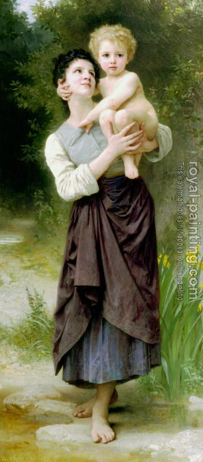 William-Adolphe Bouguereau : Frere et soeur, Brother and Sister