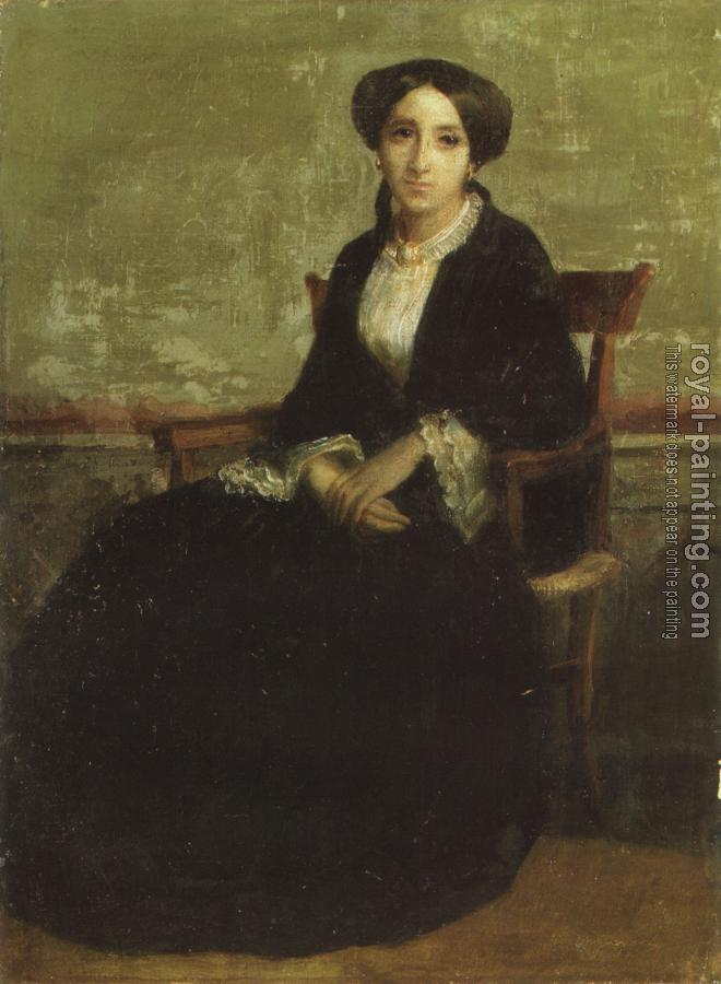 William-Adolphe Bouguereau : A Portrait of Genevieve Bouguereau