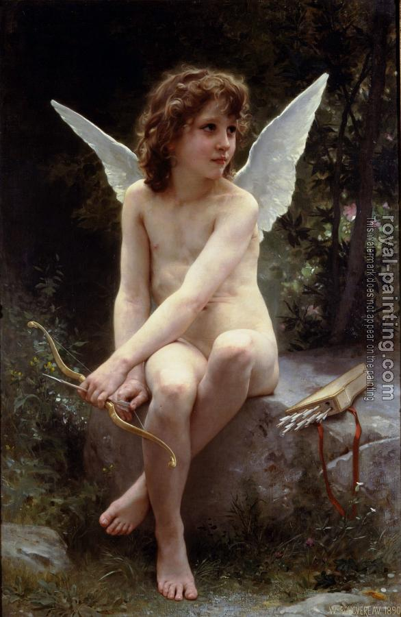 William-Adolphe Bouguereau : Amour a l'affut , Love on the Look Out