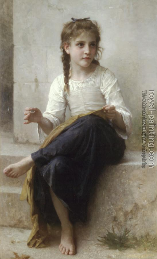 William-Adolphe Bouguereau : La couturiere, Sewing