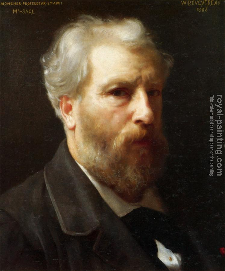William-Adolphe Bouguereau : Autoportrait presente a M. Sage (Self-portrait presented to M. Sage)