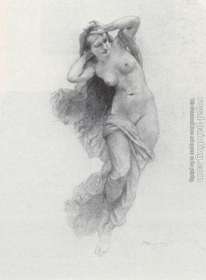 William-Adolphe Bouguereau : Sketch for Night