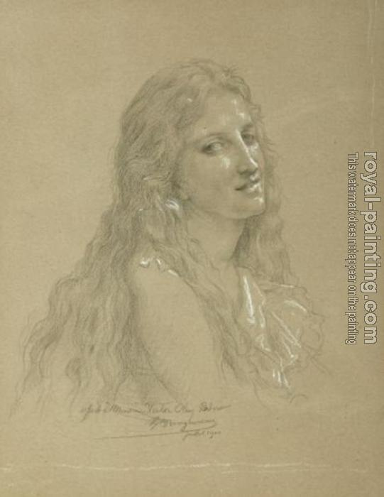 William-Adolphe Bouguereau : Drawing of a Woman