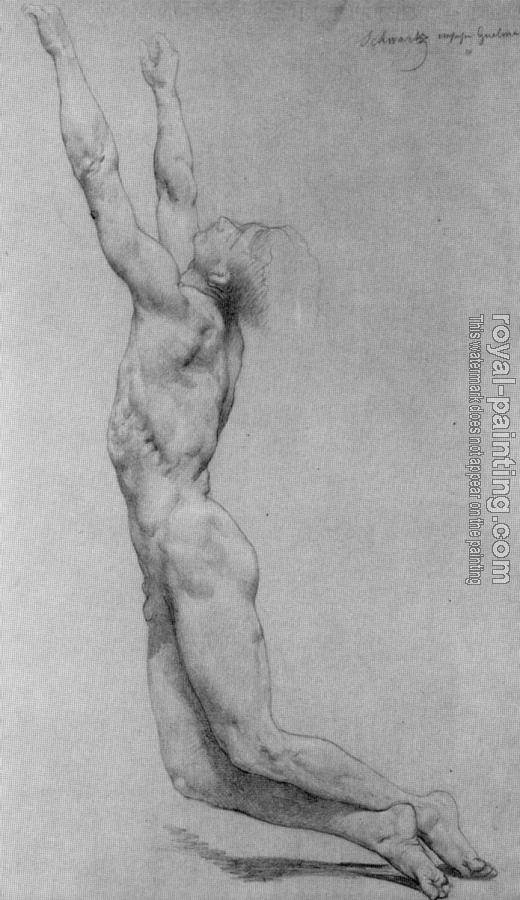William-Adolphe Bouguereau : Study for The Flagellation of Christ