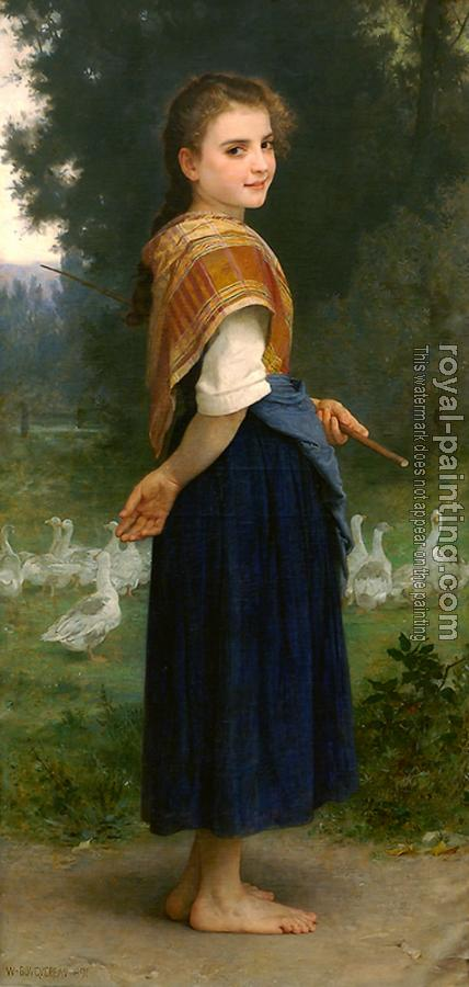 William-Adolphe Bouguereau : The Goose Girl