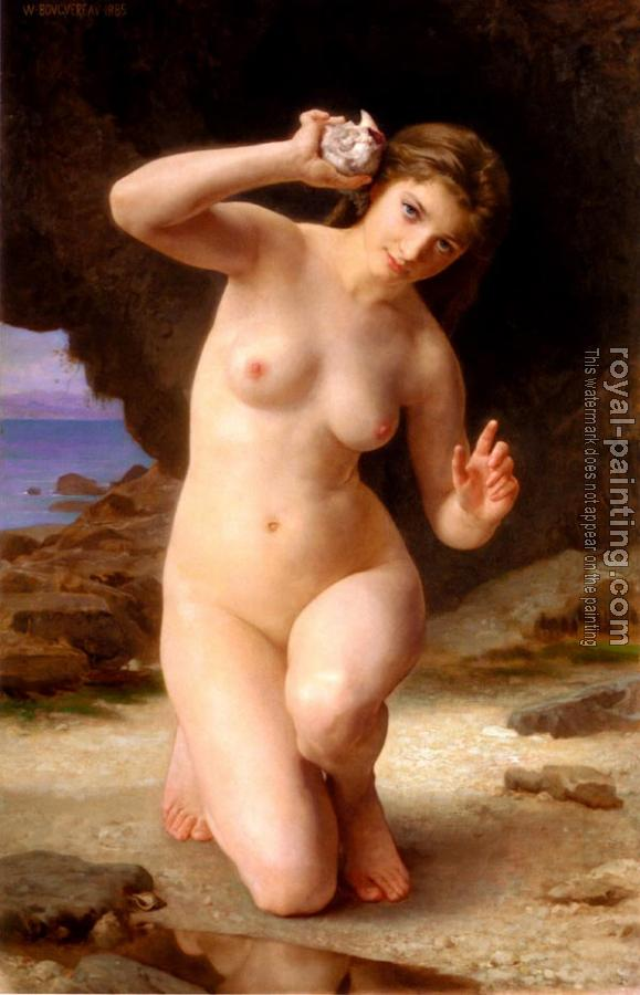 William-Adolphe Bouguereau : Femme au Coquillage, Woman with Seashell.