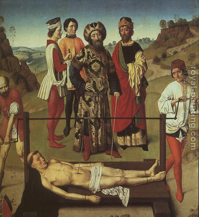 Dieric Bouts : The Martyrdom of St. Erasmus (Elmo)