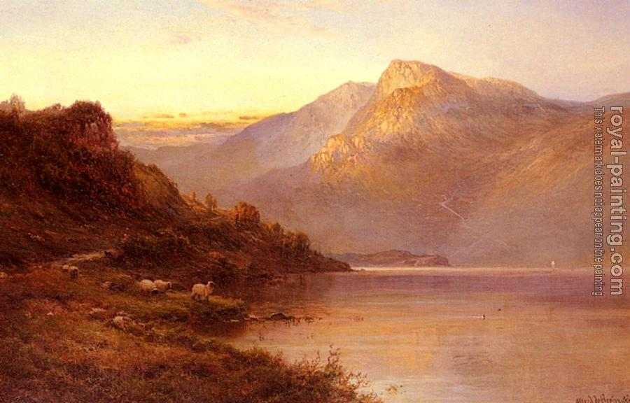 Alfred De Breanski : Sunset On The Loch