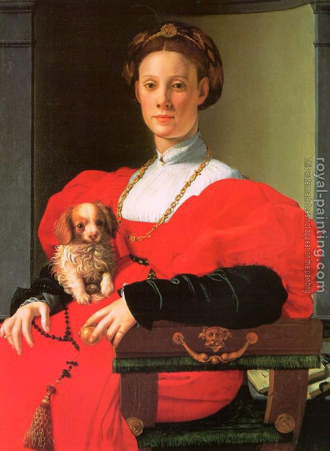 Agnolo Bronzino : A Lady with a Puppy