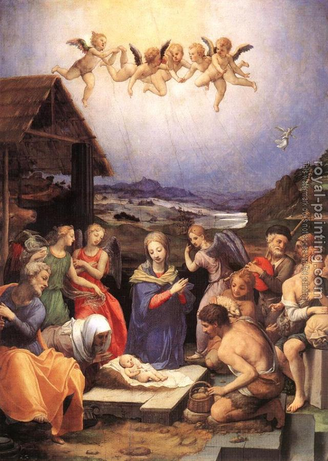 Agnolo Bronzino : Adoration of shepherds