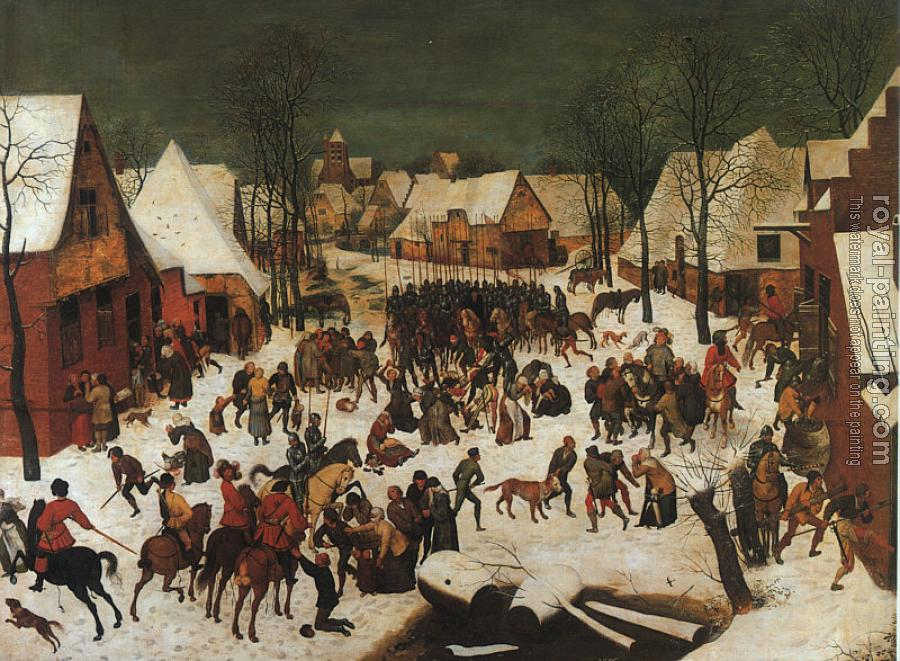Pieter The Elder Bruegel : Hunters in the Snow