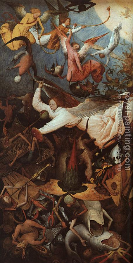 Pieter The Elder Bruegel : The Fall of the Rebel Angels, detail