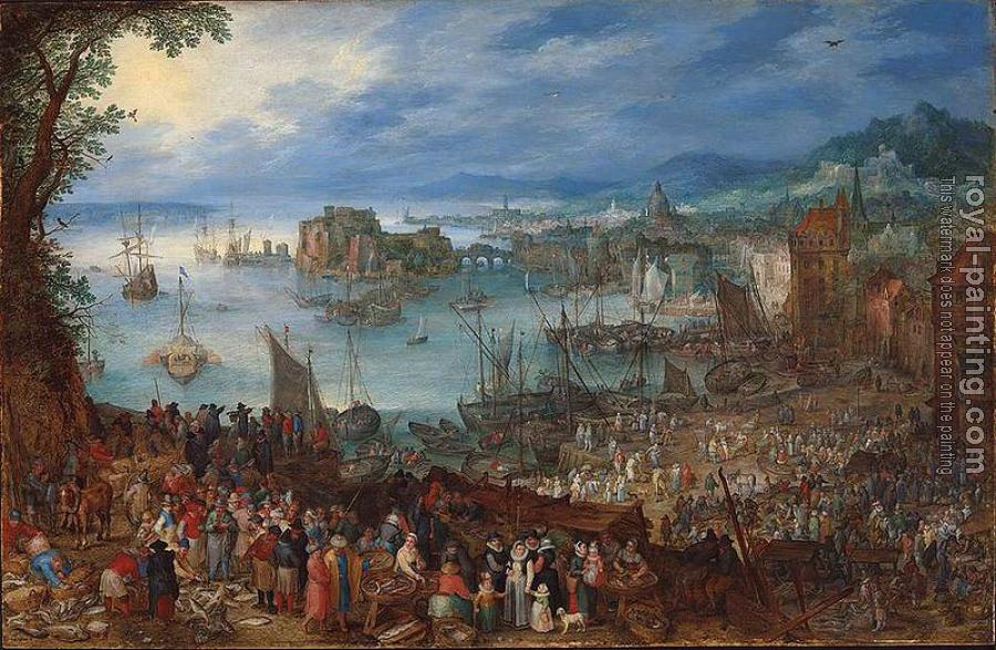Jan The Elder Brueghel : The Great Fish Market