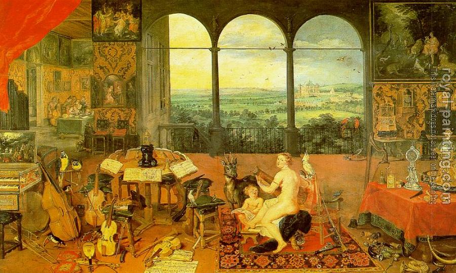 Jan The Elder Brueghel : The Sense of Hearing