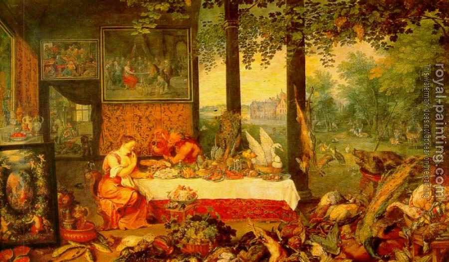 Jan The Elder Brueghel : The Sense of Taste