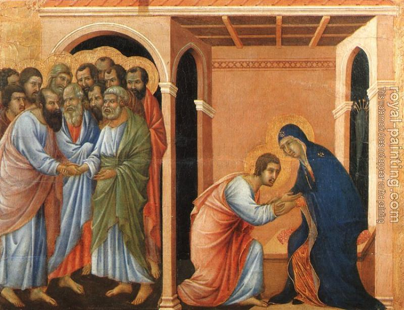 Duccio Di Buoninsegna : Parting from St. John