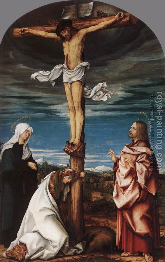 Hans Burgkmair : Crucifix with Mary, Mary Magdalen and St John the Evangelist