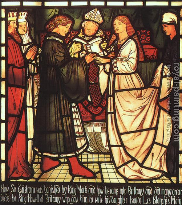 Sir Edward Coley Burne-Jones : The Wedding of Sir Tristram