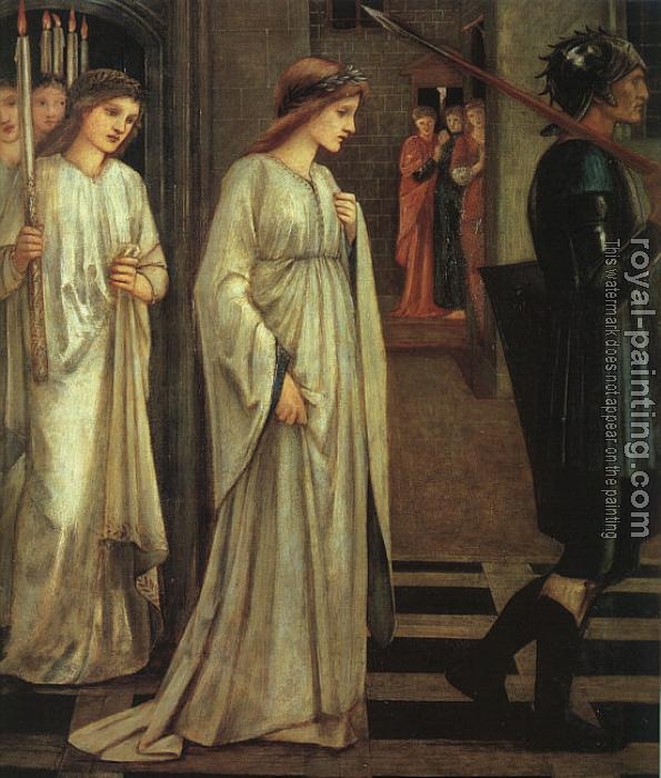 Sir Edward Coley Burne-Jones : The Princess Sabra Led to the Dragon