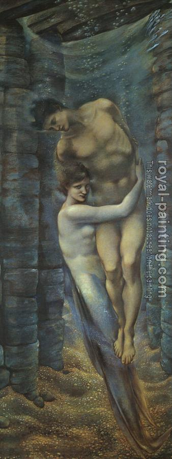Sir Edward Coley Burne-Jones : The Depths of the Sea