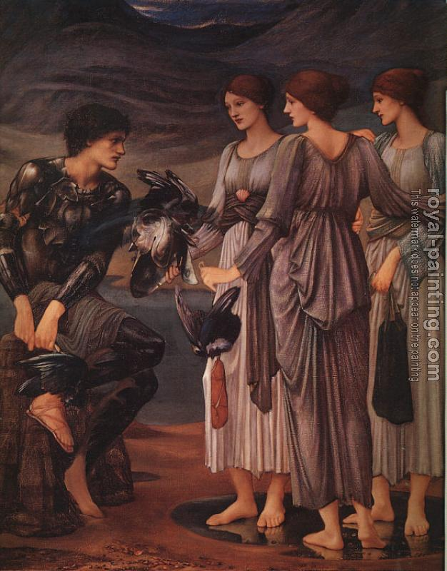 Sir Edward Coley Burne-Jones : The Arming of Perseus