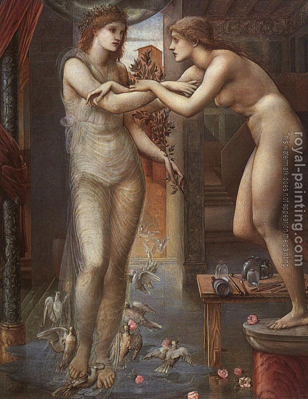 Sir Edward Coley Burne-Jones : Pygmalion and the Image