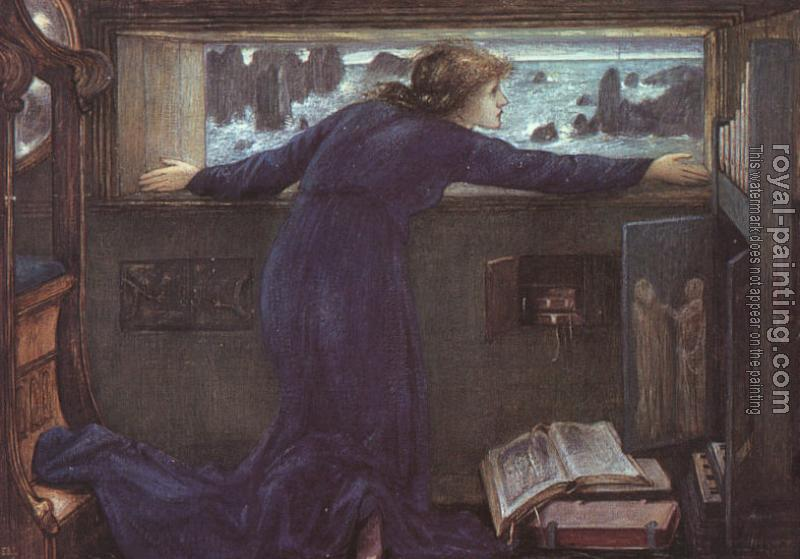 Sir Edward Coley Burne-Jones : Dorigen of Britian Waiting for the Return of her Husband