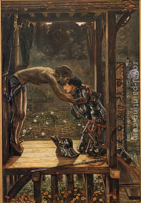 Sir Edward Coley Burne-Jones : The Merciful Knight