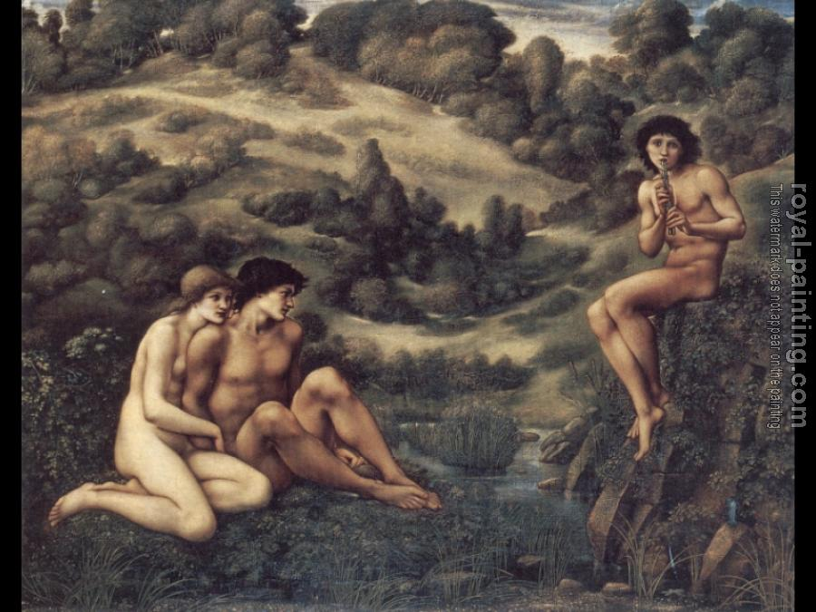 Sir Edward Coley Burne-Jones : The Garden of Pan