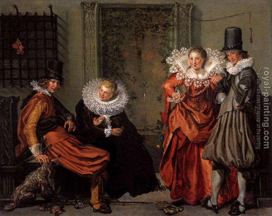 Willem Pietersz Buytewech : Dignified Couples Courting