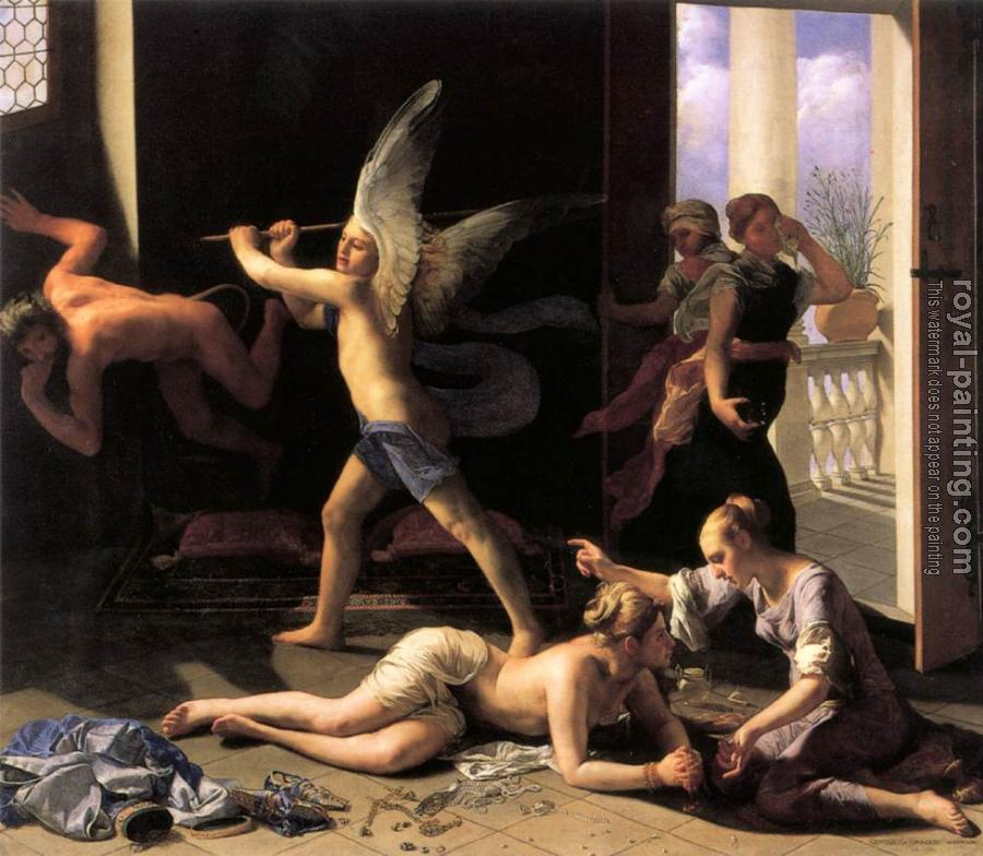 Guido Cagnacci : Martha Rebuking Mary for her Vanity