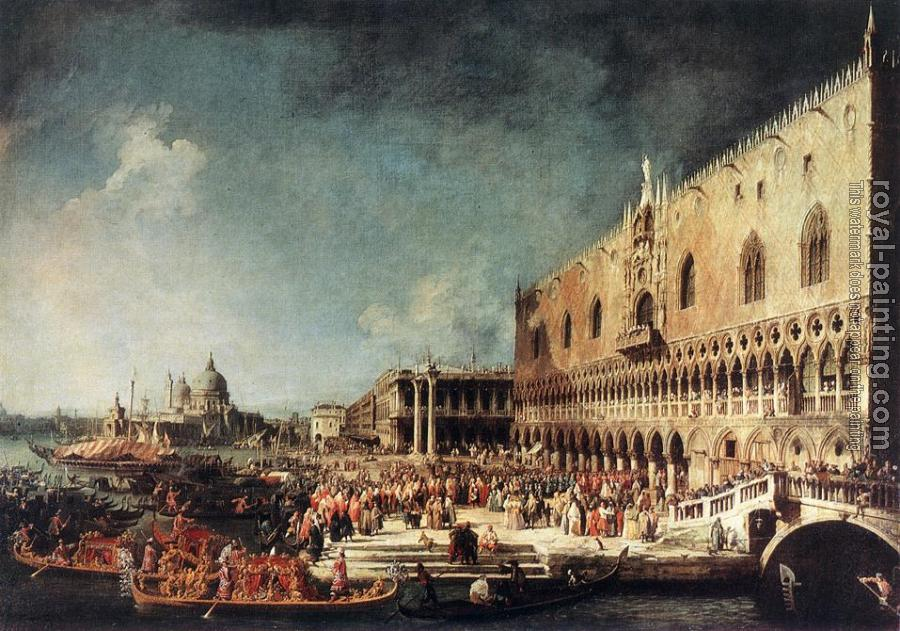 Canaletto : Arrival of the French Ambassador in Venice