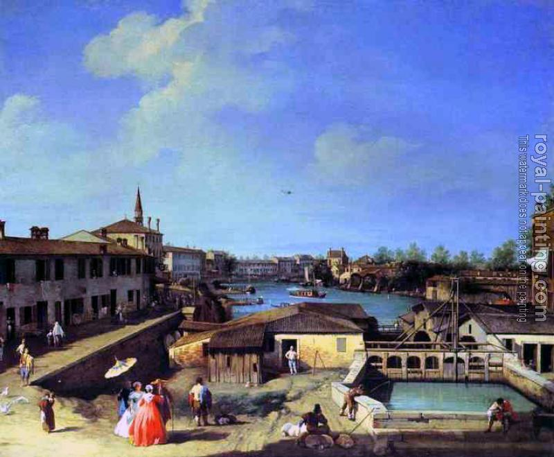 Canaletto : Dolo on the Brenta