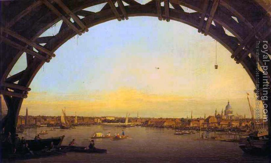 Canaletto : London, Seen through an Arch of Westminster Bridge