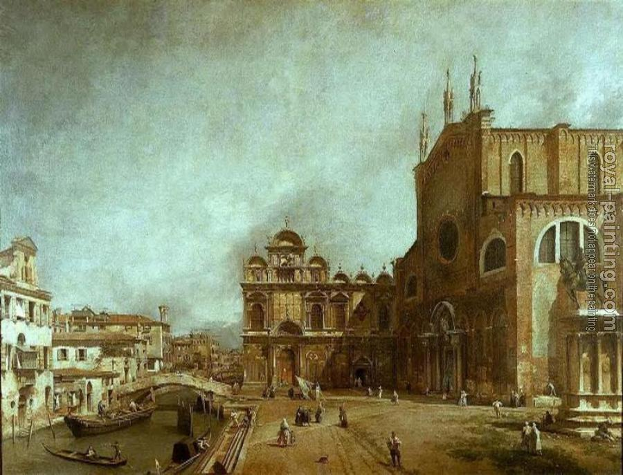 Canaletto : The Church of Saints John and Paul
