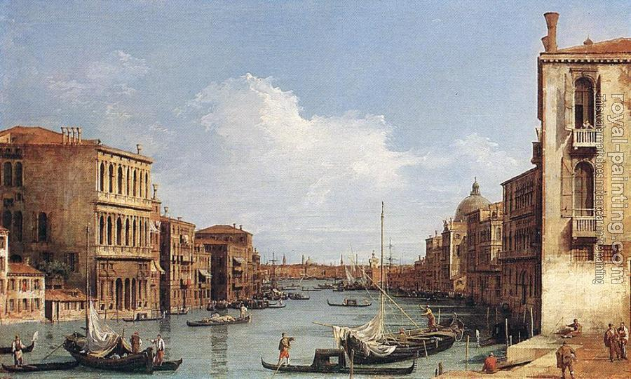 Canaletto : The Grand Canal from Campo S Vio towards the Bacino