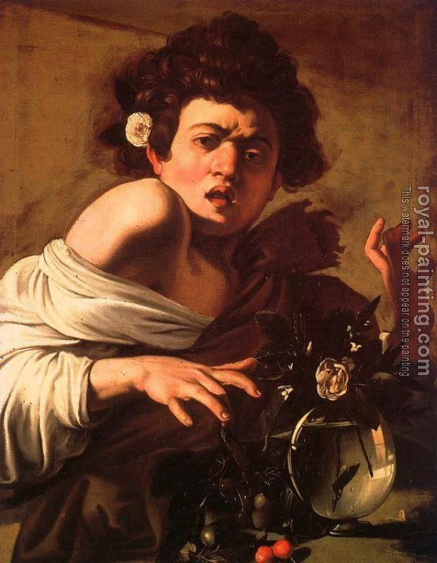 Caravaggio : Youth Bitten by a Green Lizard