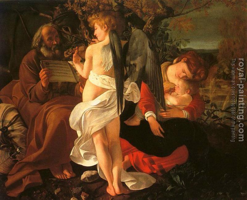 Caravaggio : Rest During the Flight into Egypt