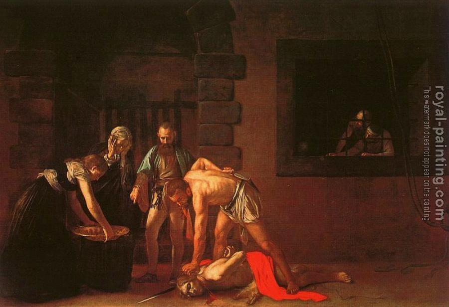 Caravaggio : The Beheading of the Baptist