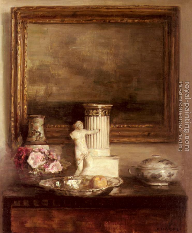 Carl Holsoe : Still Life with Classical Column and Statue