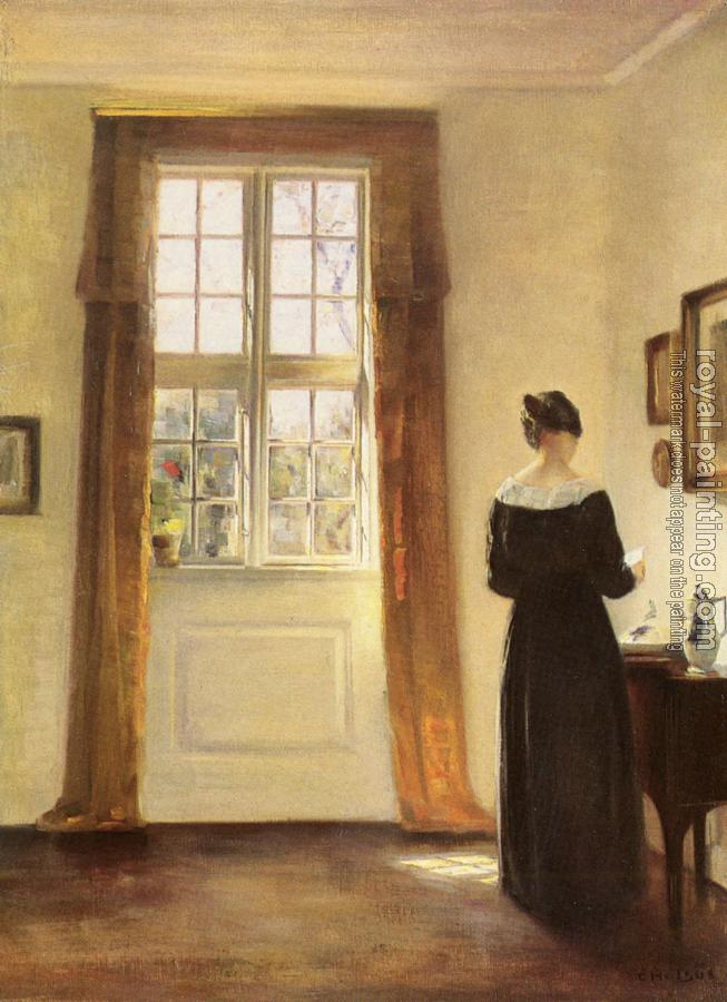 Carl Holsoe : Woman In Interior