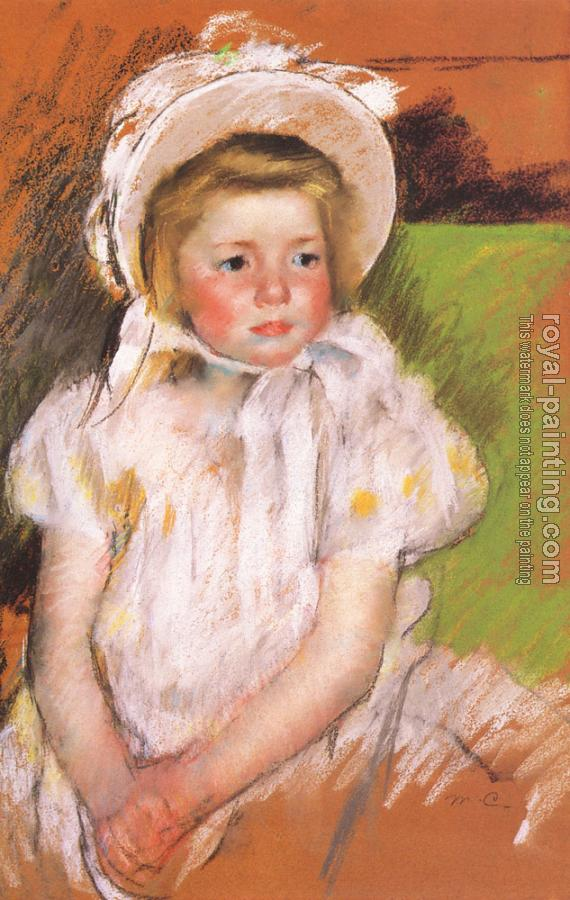 Mary Cassatt : Simone in a White Bonnet