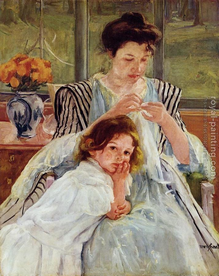 Mary Cassatt : Young Mother Sewing
