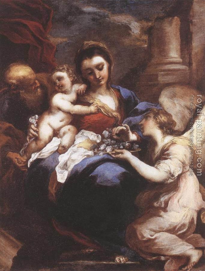 Valerio Castello : Holy Family with an Angel