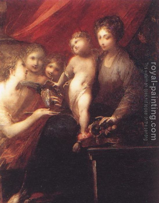 Valerio Castello : The Virgin of the Compote-dish