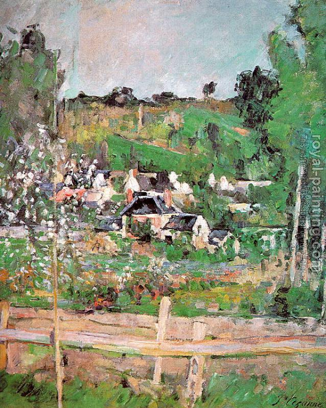 Paul Cezanne - View of Auvers-sur-Oise (The Fence)