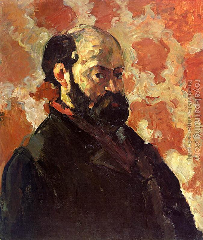 Paul Cezanne : Self-Portrait on a Rose Background