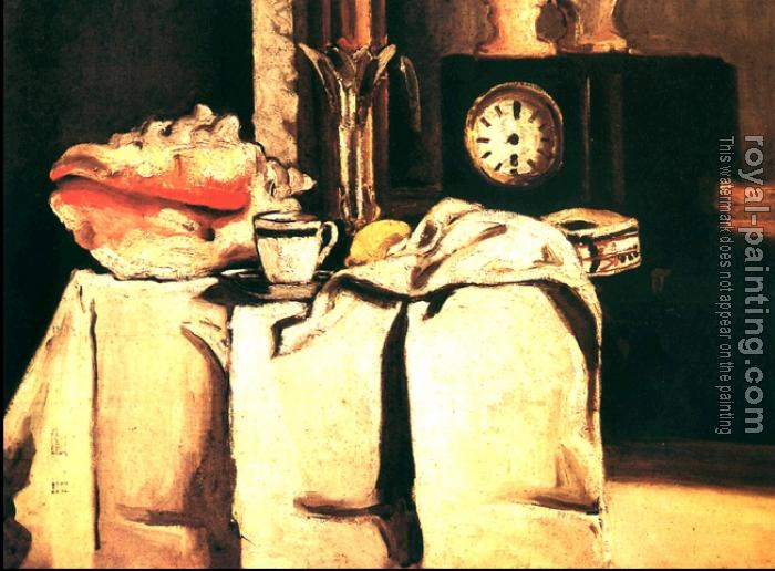 Paul Cezanne : The Black Marble Clock