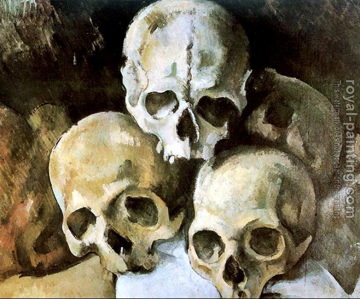 Paul Cezanne : Pyramid of Skulls